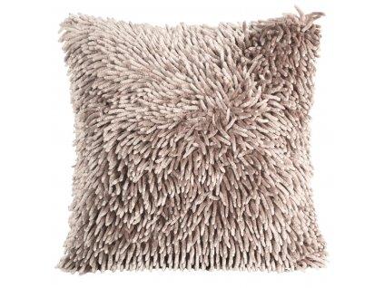 Polštář SHAGGY s hustým vlasem, pudrová růžová, 40x40 cm Mybesthome