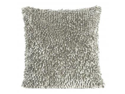 Polštář SHAGGY s hustým vlasem, stříbrná, 40x40 cm Mybesthome