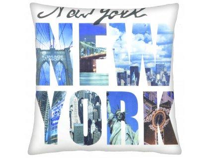 Polštář NEW YORK  I. 40x40cm motiv New Yorku MyBestHome