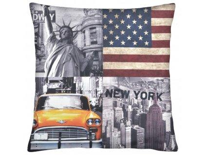 Polštář NEW YORK  II. 40x40cm motiv New Yorku MyBestHome