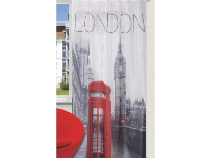 Dekorační záclona s kroužky LONDON II. 140x245 cm (cena za 1 kus) MyBestHome