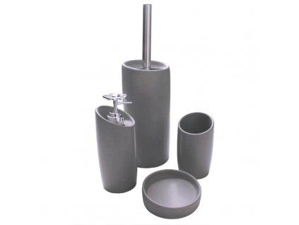 Koupelnový keramický set 4 kusy TAP šedá Mybesthome