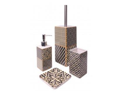 Koupelnový keramický set 4 kusy GIANNI béžová Mybesthome