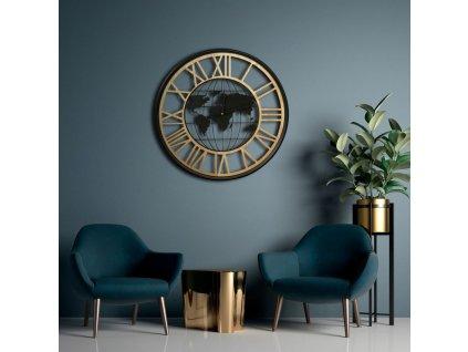 Nástěnné hodiny WORLD Ø 60 cm Mybesthome