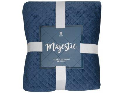 Přehoz na postel MAJESTIC 200x220 cm modrá ESSEX