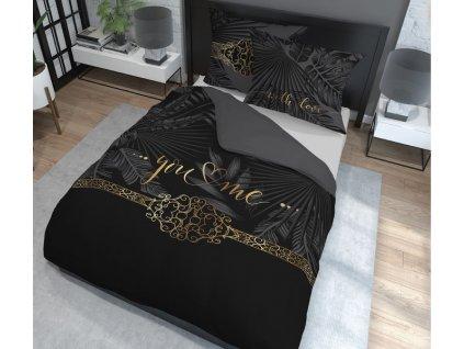 Povlečení YOU AND ME II.100% saténová bavlna 1x 200x220 cm, 2x povlak 70x80 cm francouzské povlečení MyBestHome
