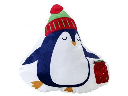 Polštářek tvarovaný PUPPY vánoční tučňák 35x40 cm Essex