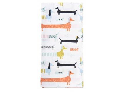 Utěrka ANIMALS bavlněná, pejskový motiv 100% bavlna, 45x65 cm Essex