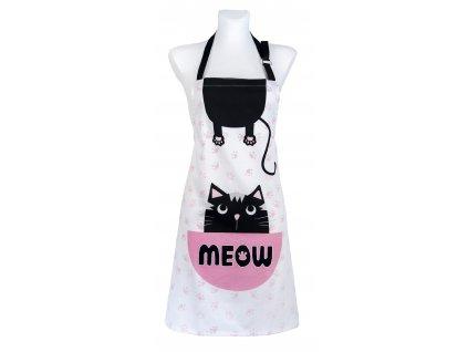 Kuchyňská bavlněná zástěra ANIMALS kočičí motiv 60x75 cm Essex, 100% bavlna