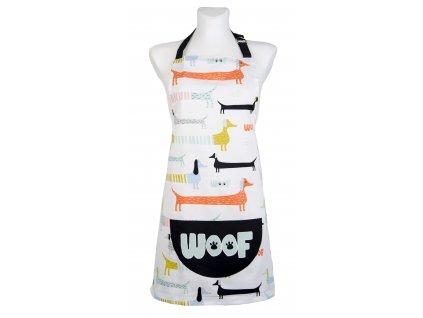 Kuchyňská bavlněná zástěra ANIMALS pejskový motiv 60x75 cm Essex, 100% bavlna