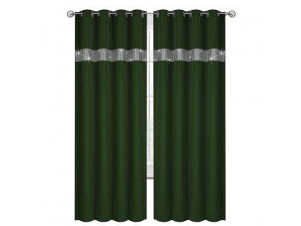 Dekorační závěs s kruhy ANDRE zelená 145x250 cm (cena za 1 kus) MyBestHome