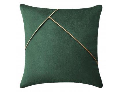 Polštář SIMPLICITY tmavě zelená 45x45 cm Mybesthome