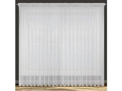 Dekorační dlouhá záclona s řasící páskou ALAXA bílá 350x250 cm MyBestHome