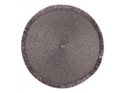 Prostírání kulaté PERU šedá Ø 38 cm Mybesthome