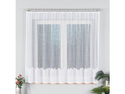 Dekorační vzorovaná záclona KORNELIA LONG 160 bílá 300x160 cm MyBestHome