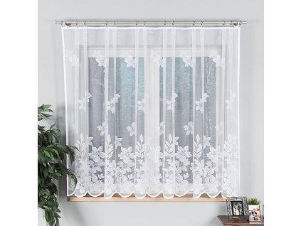 Dekorační vzorovaná záclona PETUNIA LONG 160 bílá 300x160 cm MyBestHome