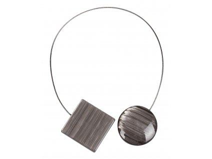 Dekorační ozdobná spona na závěsy s magnetem ANDRE šedá 4x4 cm Mybesthome