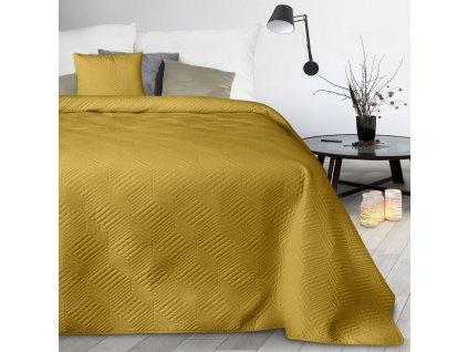 Přehoz na postel JOSEF mustard/hořčicová 170x210 cm Mybesthome