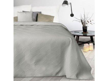 Přehoz na postel JOSEF stříbrná 170x210 cm Mybesthome