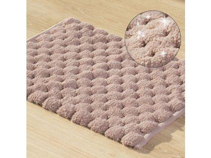 Koupelnová předložka - kobereček LUCA růžová 50x70 cm nebo 60x90 cm Mybesthome