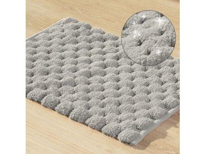 Koupelnová předložka - kobereček LUCA stříbrná 50x70 cm nebo 60x90 cm Mybesthome