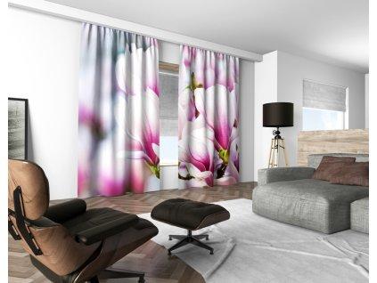 3D dekorační závěs 101V FLOWERS 160x250 cm set 2 kusy MyBestHome
