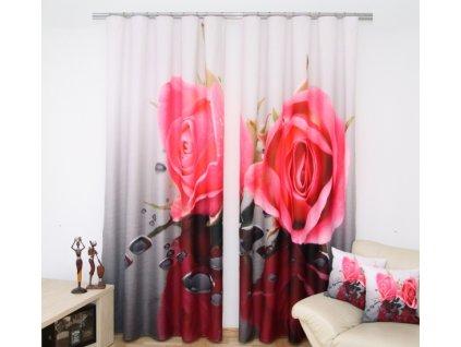 3D dekorační závěs 31 ROSES 160x250 cm MyBestHome