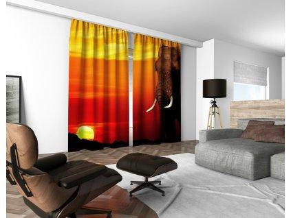 3D dekorační závěs 122V ELEPHANT 160x250 cm set 2 kusy MyBestHome