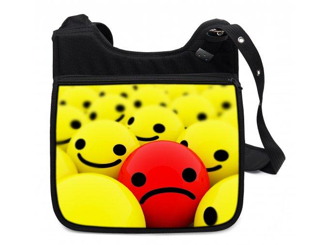 Taška přes rameno RED SMILEY MyBestHome 34x30x12 cm