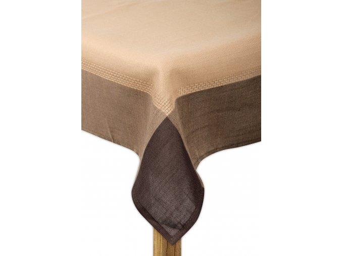 Ubrus WATERLOO, 80x80, 110x160, 130x180 cm, 160x220 cm hnědá, ESSEX