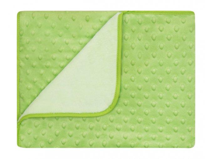 Dětská deka MAIA zelená MINKY 80x90 cm Mybesthome