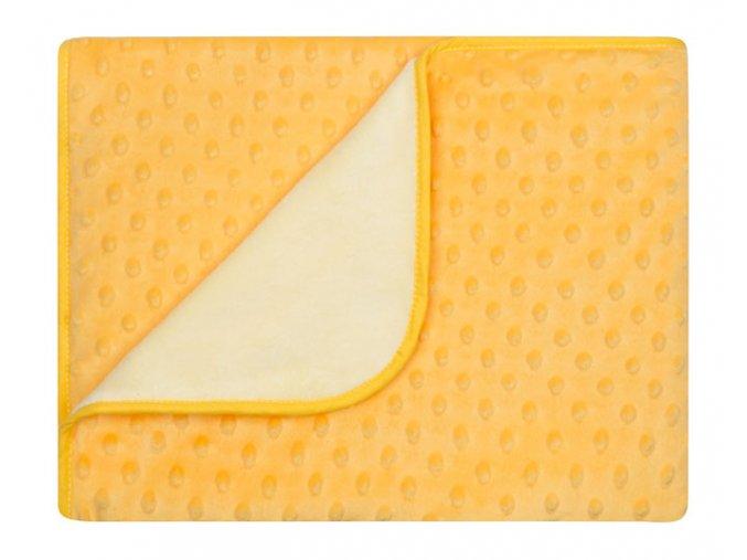 Dětská deka MAIA žlutá MINKY 80x90 cm Mybesthome