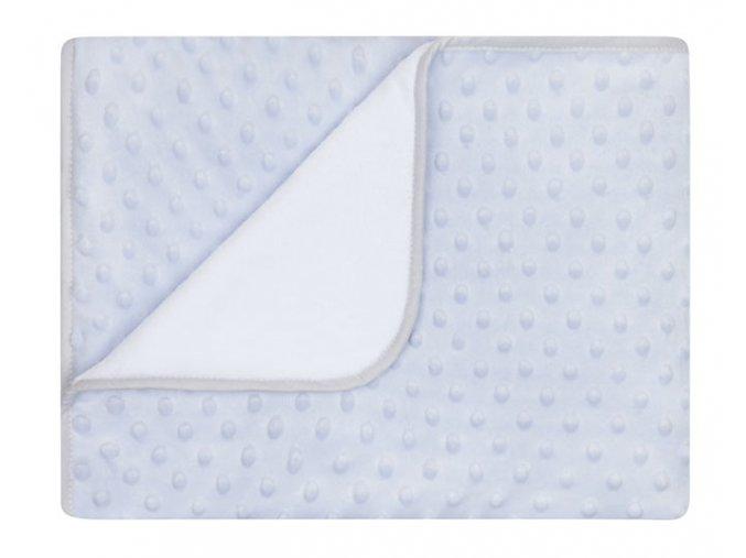 Dětská deka MAIA stříbrná MINKY 80x90 cm Mybesthome