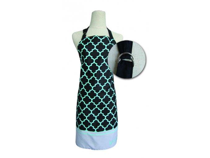 Kuchyňská bavlněná zástěra MAROKO, černá, Essex, 100% bavlna
