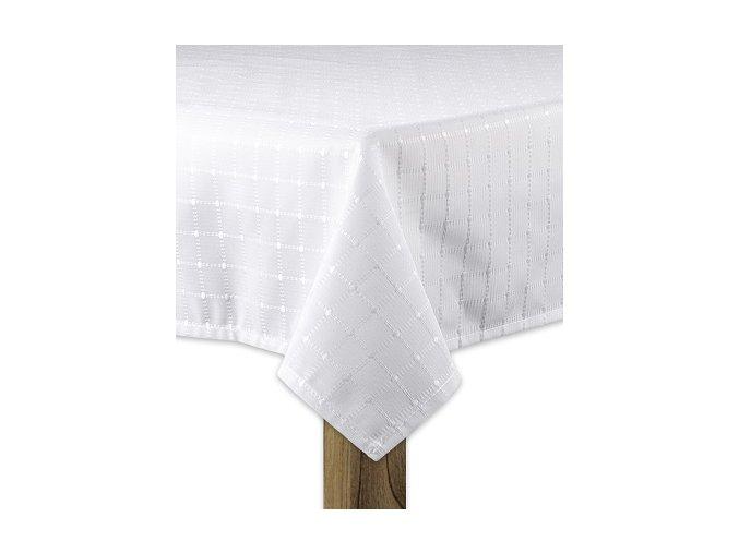 Ubrus SIMPLE design B, 80x80, 120x120 cm, 120x160 cm, 140x140 cm, 140x160 cm bílá, ESSEX