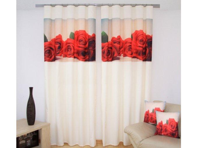 3D dekorační závěs 104 RŮŽE 1x160x250 cm MyBestHome