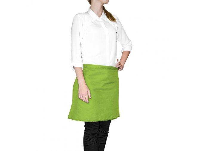 Kuchyňská bavlněná zástěra do pasu MULTICOLOR zelená, 45x65 cm, Essex, 100% bavlna
