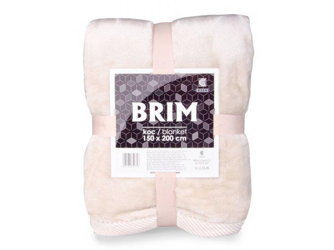 Luxusní deka z mikrovlákna s ozdobným lemováním BRIM béžová 150x200 cm Essex