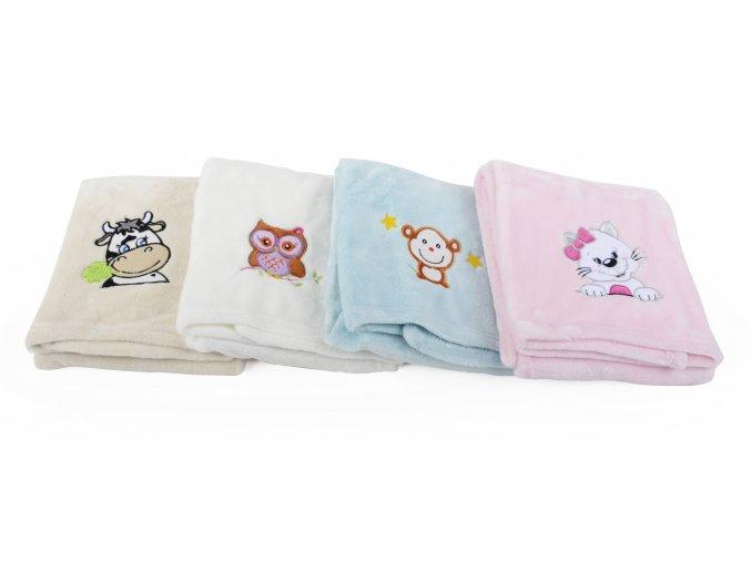 Dětská deka s výšivkou MILLY opička 75x100 cm Essex