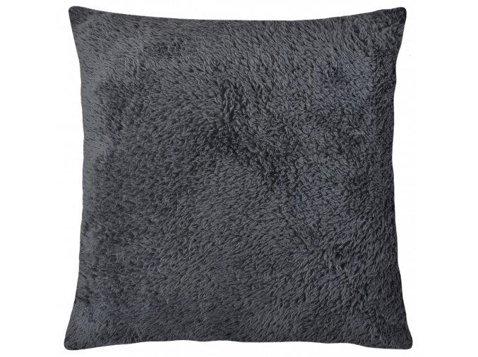 Polštář ALASKA NEW 40x40 cm tmavě šedá, mikrovlákno, ESSEX
