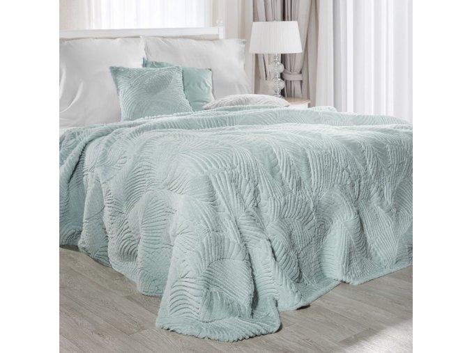 Přehoz na postel EVELINA 200x220 cm tyrkysová Mybesthome