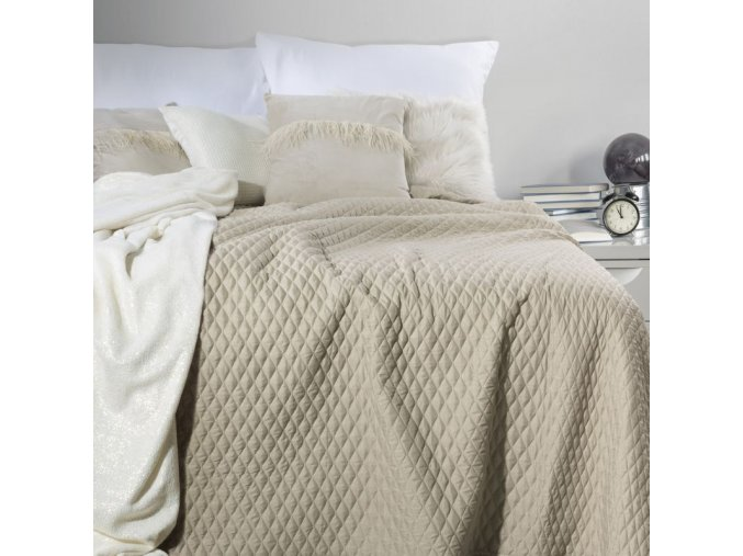 Přehoz na postel ADRIANA 200x220 cm béžová Mybesthome