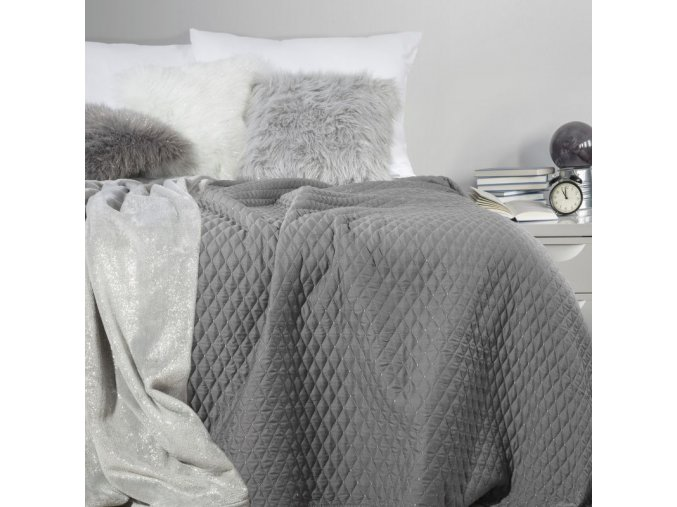 Přehoz na postel ADRIANA 200x220 cm šedá Mybesthome