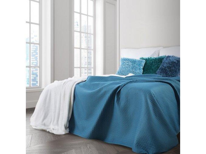 Přehoz na postel MARIELA 200x220 cm modrá Mybesthome