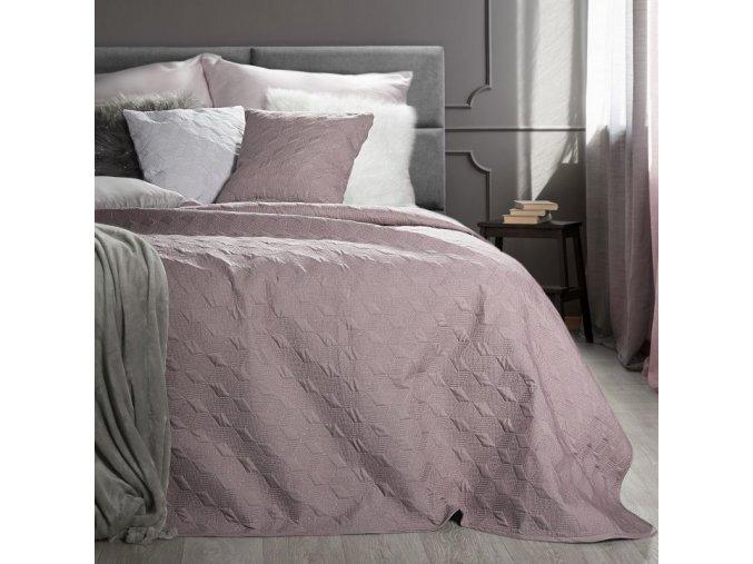 Přehoz na postel SERAFINA 220x240 cm růžová Mybesthome