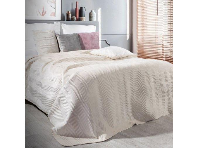Přehoz na postel SOPHIA 200x220 cm krémová Mybesthome