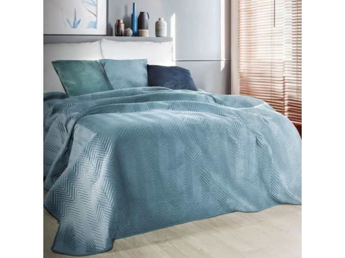 Přehoz na postel SOPHIA 200x220 cm modrá Mybesthome