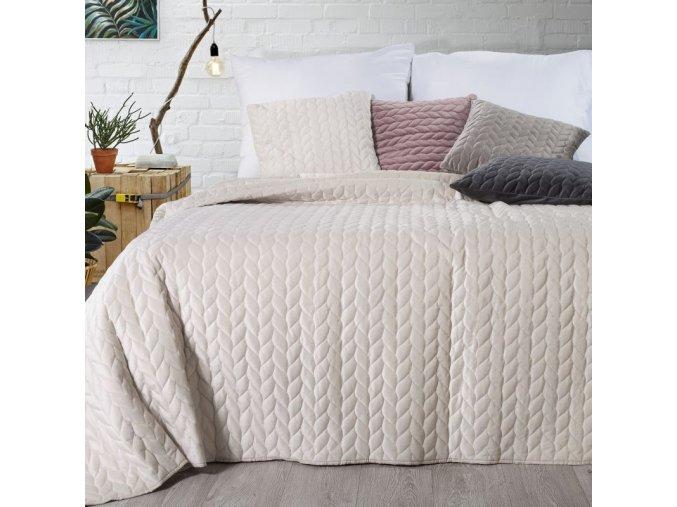 Přehoz na postel EMILY 200x220 cm krémová Mybesthome