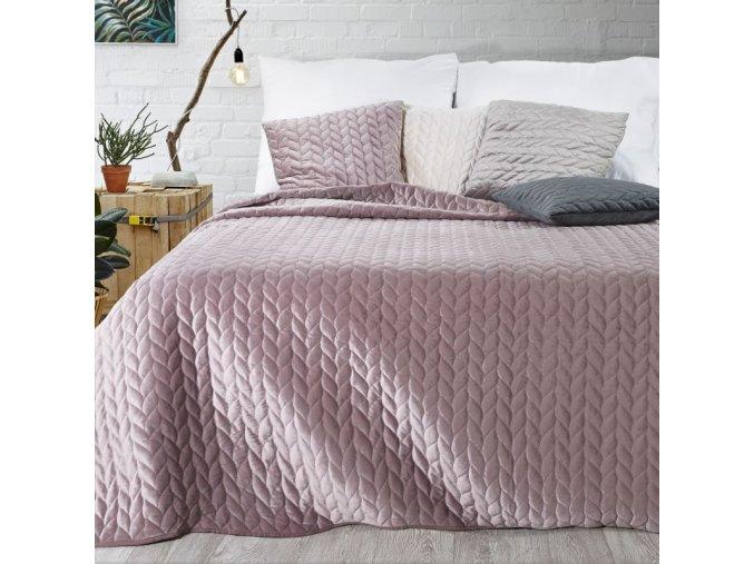 Přehoz na postel EMILY 200x220 cm růžová Mybesthome