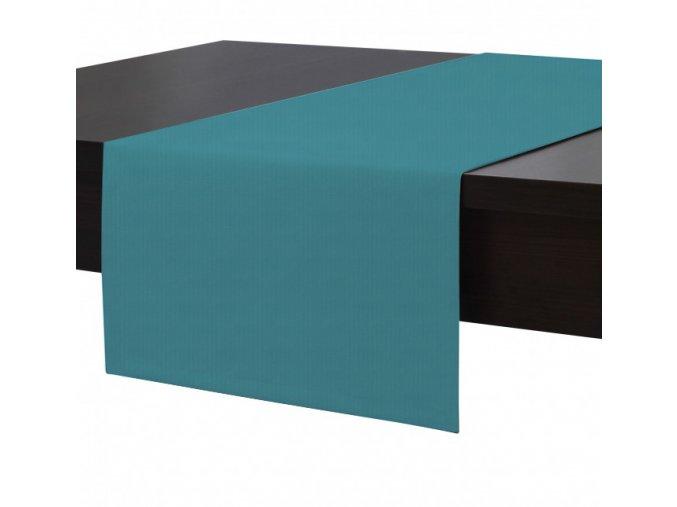 Ubrus - běhoun na stůl MAROKO 40x180 cm, tyrkysová, ESSEX